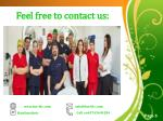 feel free to contact us