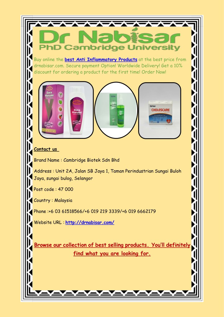 buy online the best anti inflammatory products n.