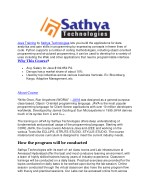 java training by sathya technologies lets