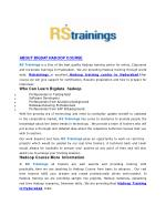 about bigda t hadoop course rs trainings