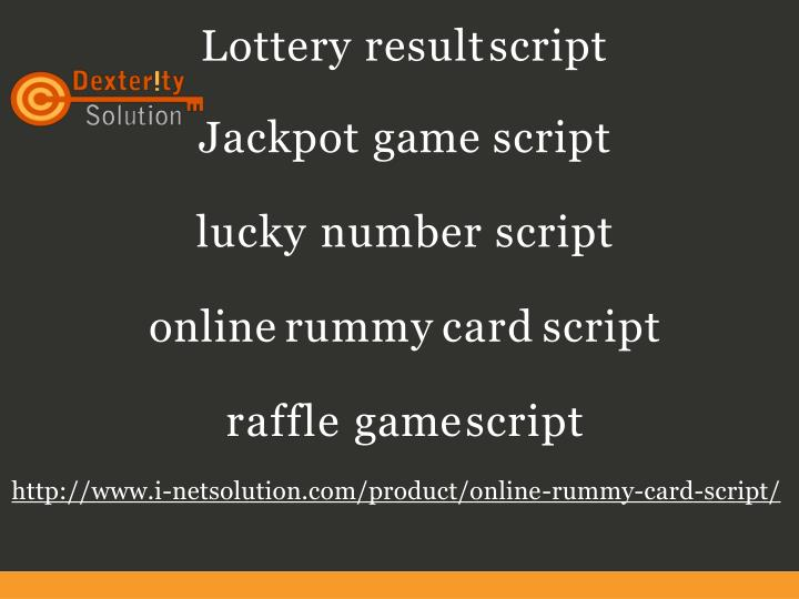 lottery result script jackpot game script lucky n.