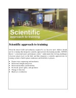 scientific approach to training