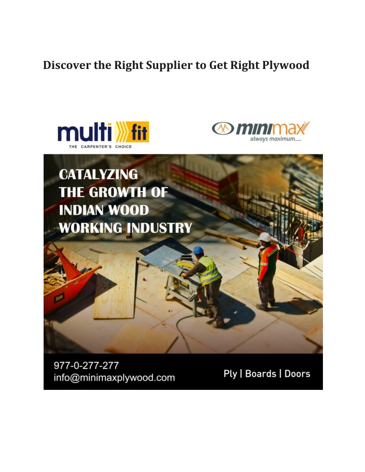 discover the right supplier to get right plywood n.