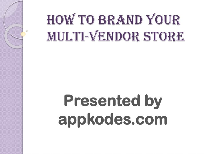 how to brand your multi vendor store n.