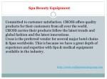 spa beauty equipment