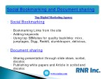social bookmarking and document sharing