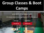 group classes boot camps