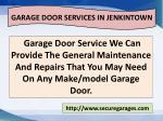garage door services in jenkintown