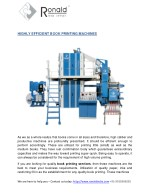 highly efficient book printing machines