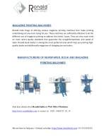 magazine printing machines