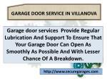 garage door service in villanova