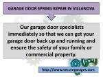 garage door spring repair in villanova