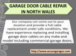 garage door cable repair in north wales
