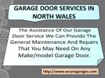garage door services in north wales
