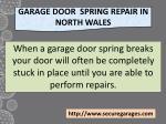 garage door spring repair in north wales
