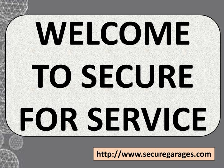 welcome to secure for service n.