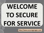 welcome to secure for service