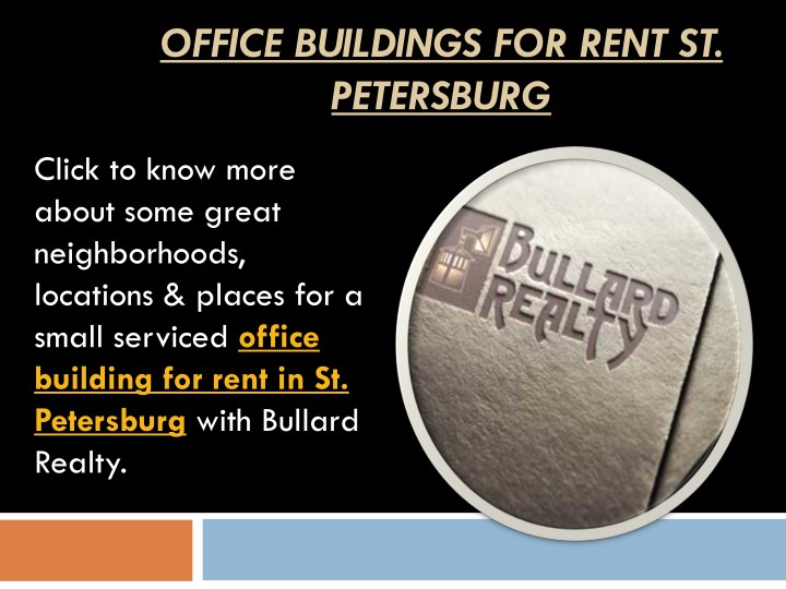 office buildings for rent st petersburg n.