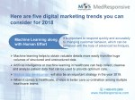 here are five digital marketing trends