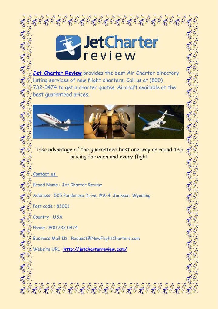 jet charter review provides the best air charter n.