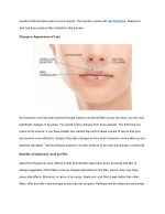 injection that has been push on your lip area