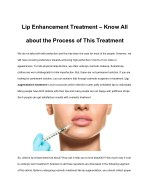 lip enhancement treatment know all