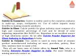 calcite in cosmetics calcite is widely used