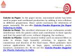 calcite in paper in the paper sector micronized