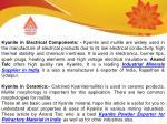 kyanite in electrical components kyanite