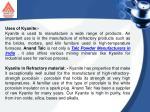 uses of kyanite kyanite is used to manufacture