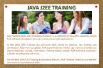 java j2ee training