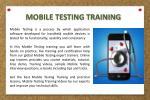 mobile testing training