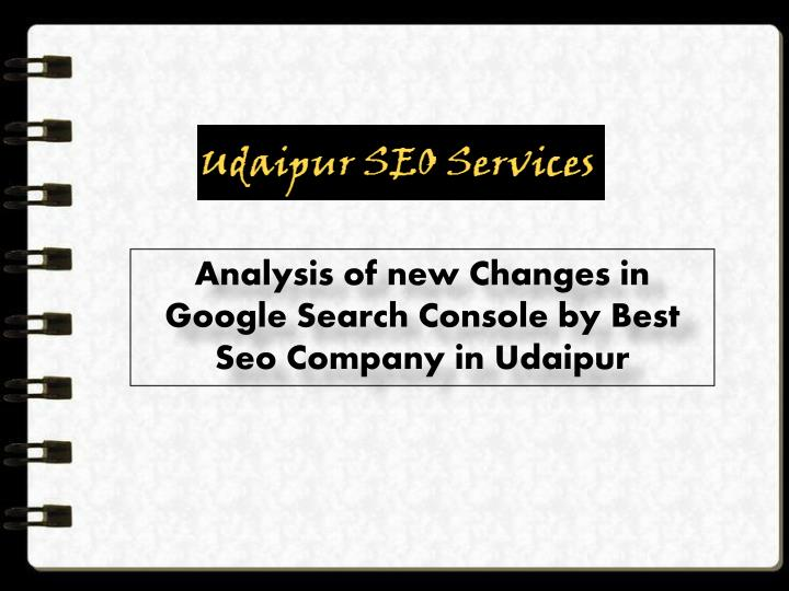 analysis of new changes in google search console n.