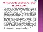 agriculture science food technology