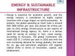 energy sustainable infrastructure