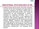 industrial psychology hr