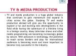 tv media production