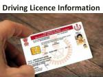 d riving licence information