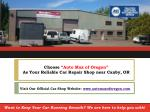 choose auto max of oregon as your reliable car repair shop near canby or