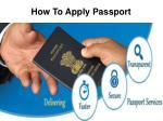 how to apply passport