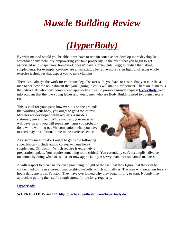 muscle building review n.