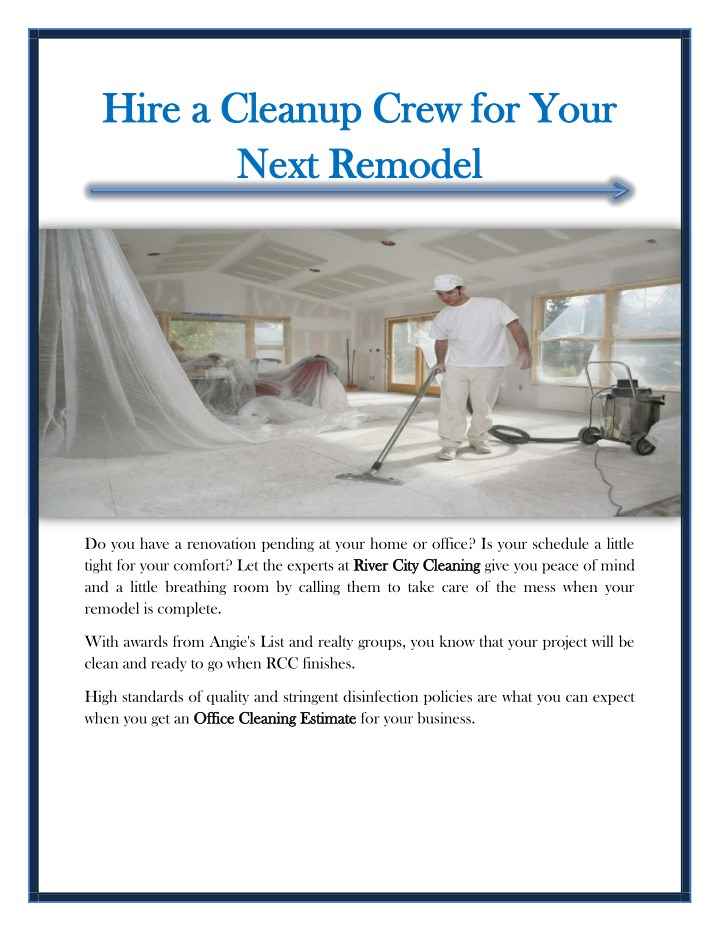 hire a cleanup crew for your hire a cleanup crew n.