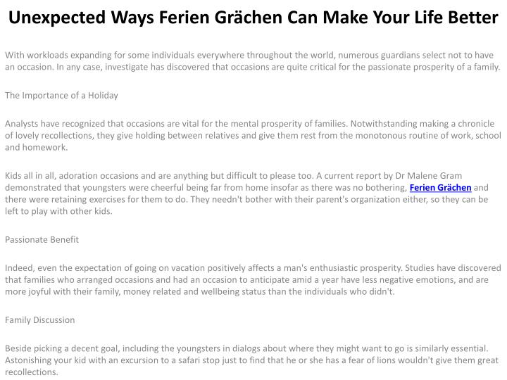 unexpected ways ferien gr chen can make your life better n.