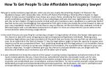 how to get people to like affordable bankruptcy lawyer