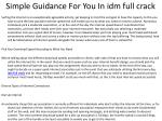 simple guidance for you in idm full crack