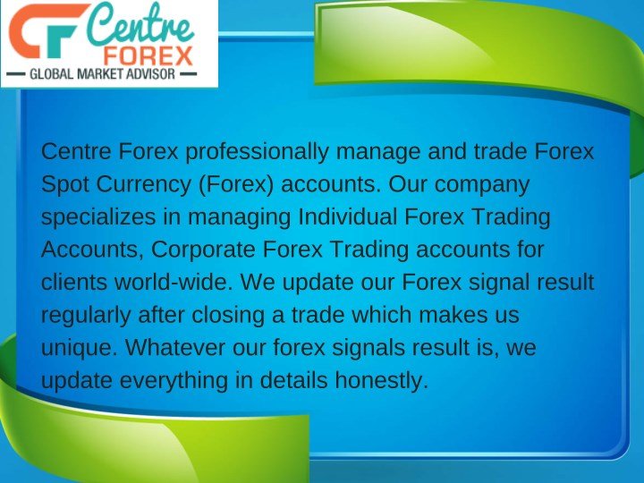 centre forex professionally manage and trade n.