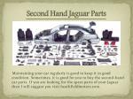 second hand jaguar parts