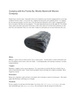 camping with the family by woolly mammoth woolen