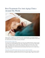 best treatments for anti aging clinics around