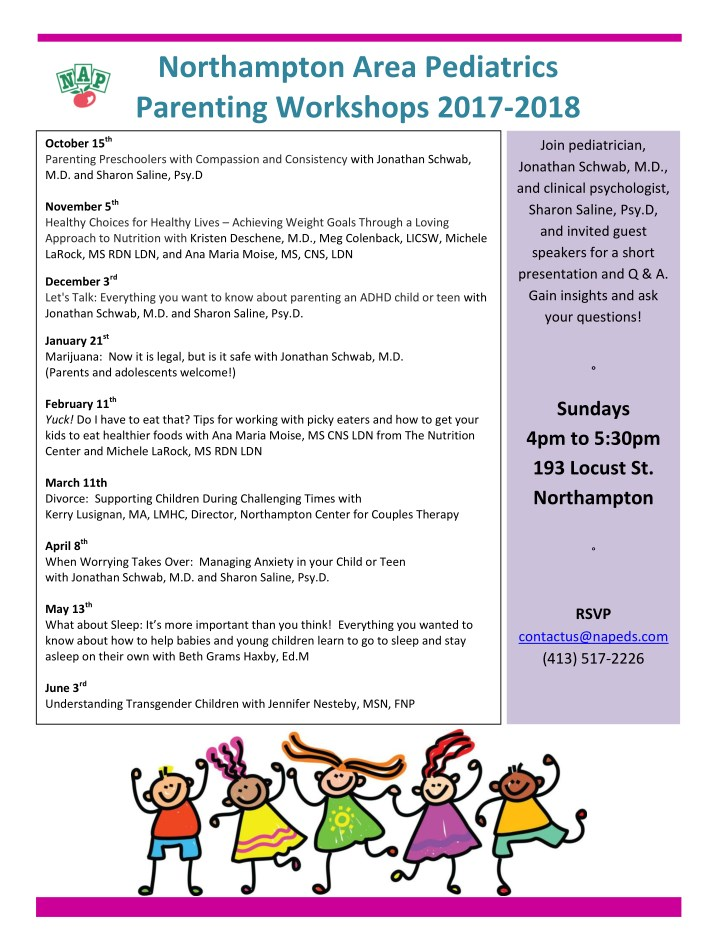 northampton area pediatrics parenting workshops n.